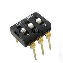 "0.1"" Pitch 3 Position IC Type DIP Switches Black(China)"