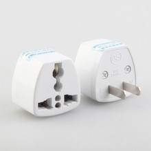 2017 New Arrival US/AU/UK/EU Plug to US Plug Home Travel Adapter Power Converter Wall Plug Adaptor White(China)