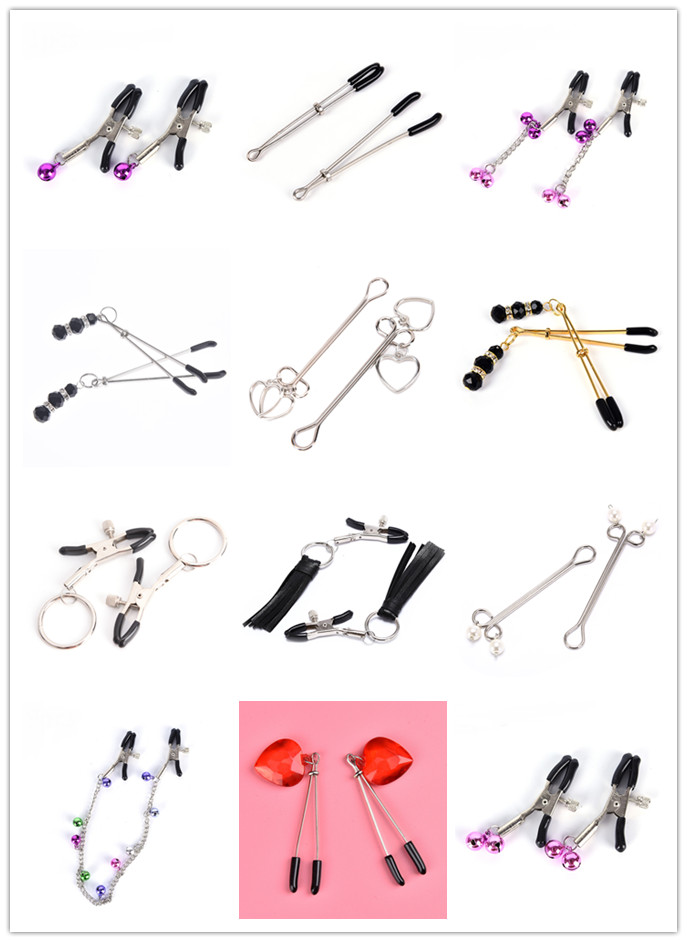 Nipple Clamps With Metal Chain Sex Slave Bdsm Milk Clip Breast Clip For Women Couples Exotic Accessories Flirt Nipple Clamps