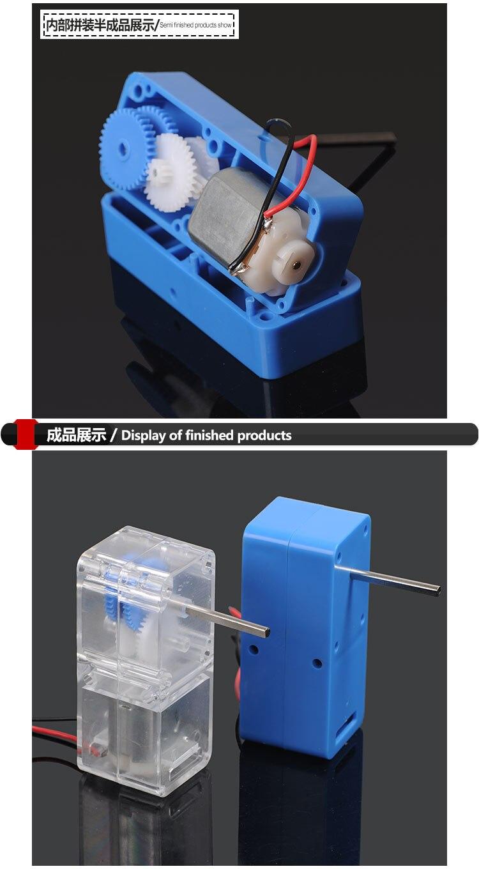 12xDC 3V 6V Mini 130 Micro DC Motor Gear Round Small Motor Toy Car DIY Model RS