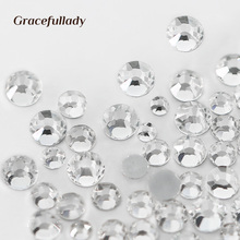 1000PCS/Pack Mix Sizes Crystal Clear Non Hotfix Flatback Rhinestones Nail Rhinestones For Nails 3D Nail Art Decoration Gems(China)