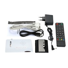 Useful External LCD CRT VGA External TV Tuner PC BOX Receiver Tuner HD 1080P Speaker TV Box With Remote Control EU plug