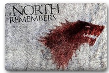 Custom 40x60cm Door Mat For Living Room Game of Thrones The North Remembers Doormat Bedroom Rug Floor Mats Christmas Gift