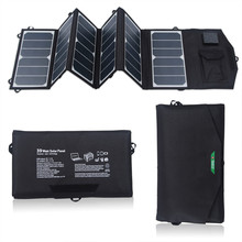 5.5V USB+18V DC 39W Solar Charger Portable Foldable Solar Panel Charger for iphone Samsung GPS Gopro Acer Asus Dell HP Toshiba(China)