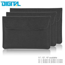 "Portable Slim PU Leather Sleeve Notebook Laptop Bag Case Cover for 11"" 13"" 15""Inch MacBook/MacBook Air/Pro PC Ultrabook Tablet"