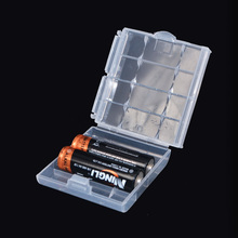 4 pcs/lot New Arrival Battery Holder Case 4 AA AAA Hard Plastic Storage Box Cover For 14500 10440 Battery Hot(China)