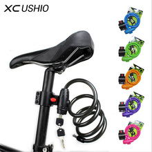 100cm Bike Lock Durable Steel Cable Bicycle Locks Road Bike Cycling Mountain Bike padlock Anti-Theft Chain Lock 6 Colors Onsale(China)