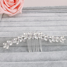 Long Art Deco Vintage Clear Rhinestones Crystal Flower Wedding Hair Comb Bridal Headpiece Hair accessories