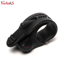 Triclicks Universal Black Rubber Hand Grip Control Assist Throttle Control Motorcycle Cruise Control Assist Rocker Cramp Stopper(China)
