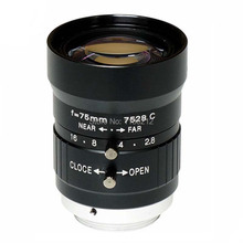 "8 Mega Pixel, focal length 75mm Manual Iris Lens  Industrial Lens with 1"" format & CS Mount  for security cameras"