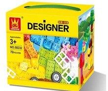 Wange 58232 Big Size Bricks Set City DIY Creative Bricks Toy Educational Building Block Bricks Compatible Lego Duplo