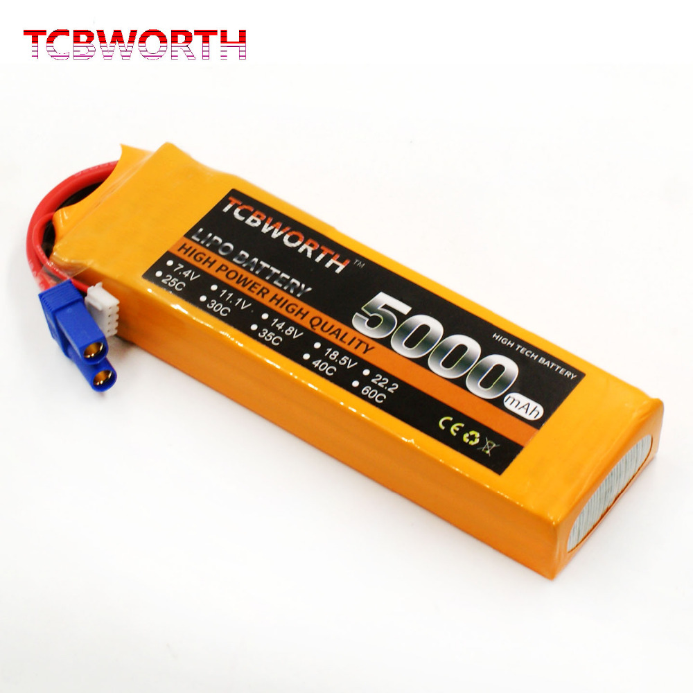 TCBWORTH RC Quadrotor LiPo battery 2S 7.4V 5000mAh 60C For RC Airplane Drone Helicopter AKKU Car Truck Li-ion battery<br>