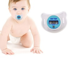 Hot Baby Nipple Thermometer Baby Pacifier LCD Digital Soother Nipple Pacifier Type Chupeta Termometro Testa(China)