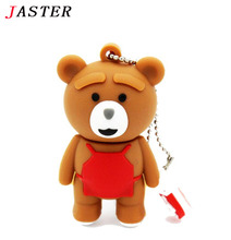 JASTER cartoon bear baby pendrive 4GB 8GB 16GB 32GB usb 2.0 usb flash drive memory stick pen drive fashion gift  Free shipping