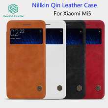 For Xiaomi Mi5 case NILLKIN Qin Leather Case For Xiaomi M5 Mi 5 5.15 inch Phone Cases Cover Flip + Retailed Package(China)