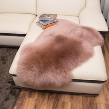 Pure sheepskin wool carpet living room coffee table carpet sofa cushion mats thickening doormat 16 color custom rug(China)