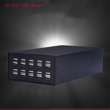 220V USB Charging Station,20-Port Charger Hub for phone/tablet/digital products adapt to the hotel / school / malls, (20 ports)(China)