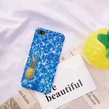 Super Vivid 3D Swimming Pool Pineapple Hard Plastic Case Cover For Iphone6 6S 6Plus 7 7Plus(China)