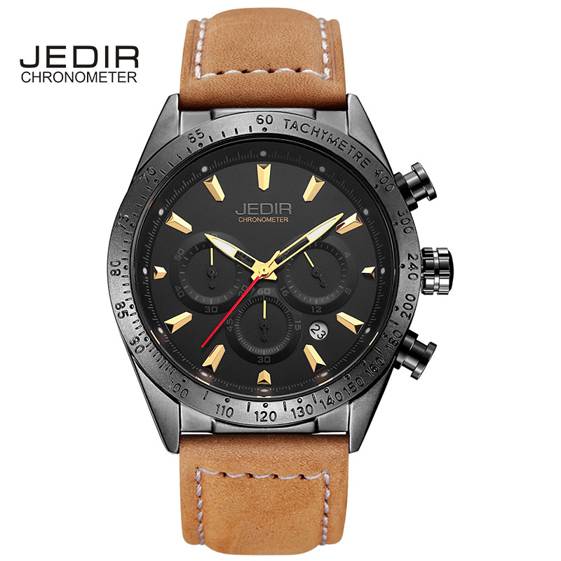 JEDIR reloj hombre Military Watch Black Mens Watches Alloy orologio Wristwatch 3D Big Face relogios masculino esportivo<br>