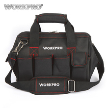 "WORKPRO 12"" Tool Bags 600D Close Top Wide Mouth Electrician bags Small Bags(China)"