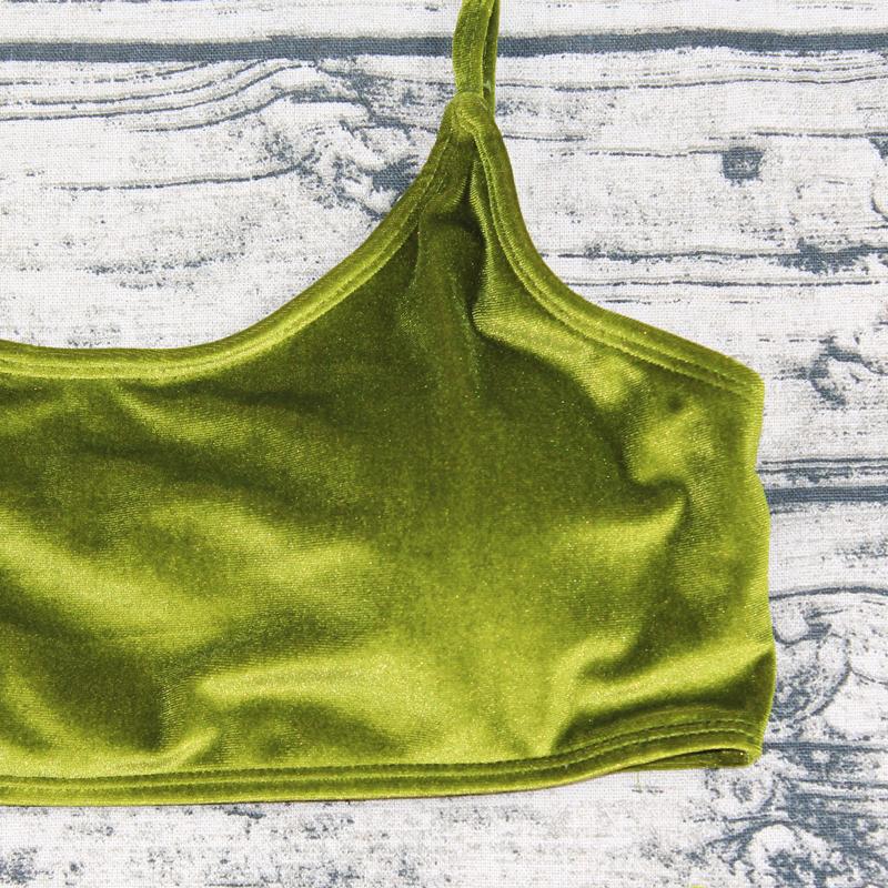 Sexy Brazilian Bikini 17 Blue Velvet Swimwear Women Swimsuit Push up Biquini Halter Bikinis Set Bathing Suit Maillot De Bain 25