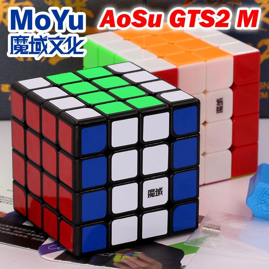 Puzzle Magic Cube Moyu AoSu GTS2M 4x4x4 4*4*4 444 magnetic professional speed cube wisdom educational puzzle toys logic game Z