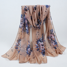 New printed big flower cotton viscose beach long shawls scarf head pashmina winter warm wrap hijab muslim soft scarves 014(China)