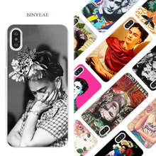 Buy BINYEAE Frida Kahlo art Hard White Phone Case Cover Coque Shell iPhone X 6 6S 7 8 Plus 5 5S SE 4 4S 5C for $1.49 in AliExpress store