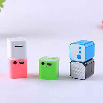 Hot New Portable mini MP3 Player Support Micro TF/SD Card sport small cubed mp3 Stereo Music players Extroverted speaker O3