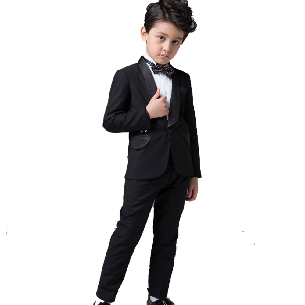 Boys Performance Costume Black Blazers Suit Childern Boy Dress Clothes Formal Prom Communion Party Suits Wedding Attire 2016 New<br><br>Aliexpress