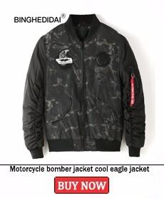 Motorcycle bomber jacket cool eagle jacket camo fashion jacket bomber thick winter men jacket with flag