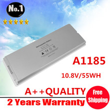 "Wholesale New White  laptop Battery for Apple MacBook 13"" A1185 A1181 MA561 MA561FE/A MA561G/A MA254 Free Shipping"