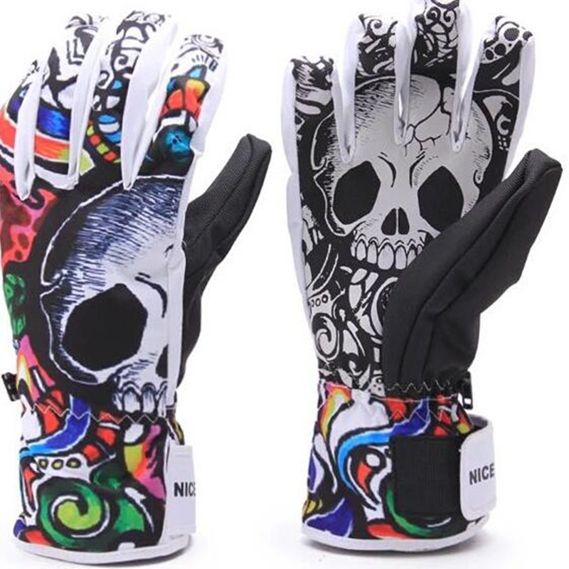 Winter Ski Glove Skull Wearproof Thermal Snowmobile Waterproof Warmth Nonslip Motorcycle Gloves China Shopping Online Hot Sale<br>