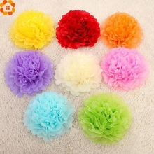 "15pcs 4"" 6"" 8""(10cm 15cm 20cm) Tissue Paper Pom Poms Mix Color Flower Kissing Pompom Balls for Wedding party home Decoration"