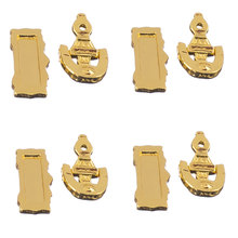 New Hot Set of 4 Dolls House Miniature Fittings Door Knocker Mail Slot Letter Box Doll Houses Parts Supplies Accessories(China)