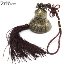 KiWarm Retro Peacock Pattern Lucky Feng Shui Wind Chime With Tassels Blessing Bell Good Luck Gift Craft Home Car Hanging Decor