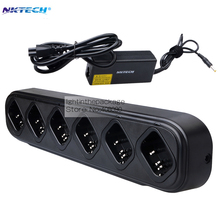 NKTECH 6-Way Six-Way Universal Rapid Multi Charger For Pofung BAOFENG BF-888S BF-777S BF-666S Two-Way Radio Walkie Talkie