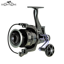 11+1BB Ball Bearings Spinning Reel Freshwater Sea 4.7:1 Fishing Reel Dual Brake System Carp Fishing Tackle Tool Carretilha pesca(China)