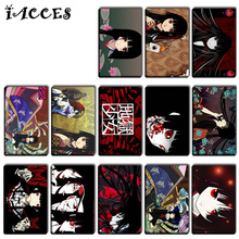 10 pcs/lot HELL GIRL Card Sticker Cartoon Anime DIY cool Enma Ai  Bank Bus ID Self-Adhesive Card Stickers Classic Toys kids Gifs