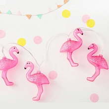 Buy 10Pcs Flamingo LED String Light 1M Tropical Party Supplies Romatic Wedding Decoration Bird Garland Christmas Home Decoration for $5.95 in AliExpress store