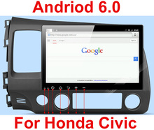 10.1 inch Android 6.0 Car DVD Player GPS Navigation System Media Stereo Radio for Honda Civic 2006-2011(China)