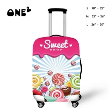 3D Colorful Food Print  Dustproof protective cover for 18/20/22/24/26/28/30 Trolley Suitcase, Sweet Candy design luggage cover