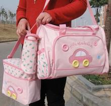 2015 New baby Diaper Bags set Mama Mummy 4pcs sets Item Bag Multifunctional bag free shipping 270C