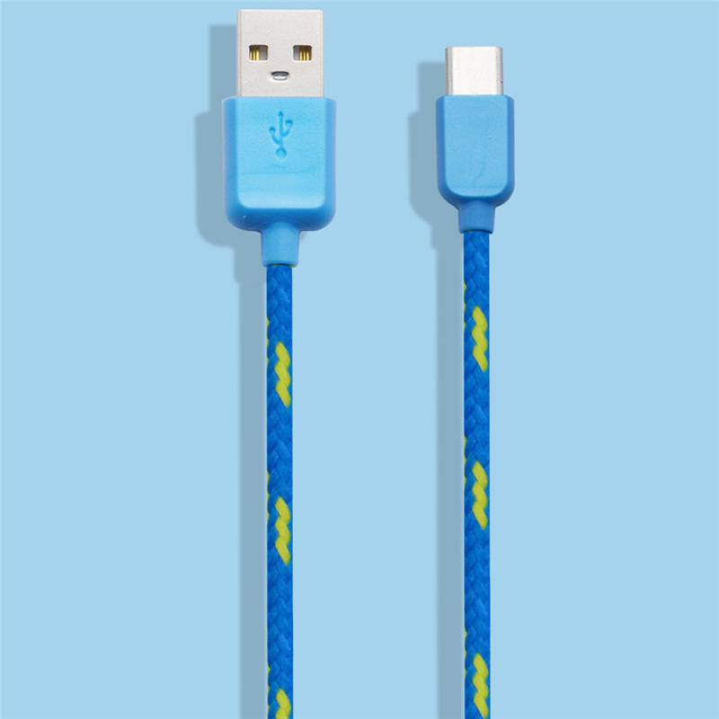 Woweinew Genuine Nylon Braided USB 3 1 font b Type C b font Data Sync Charger