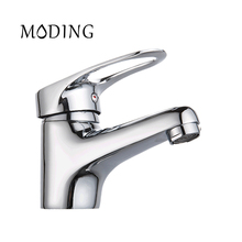 MODING Water Faucet High Quality Water Tap Bathroom Sink Faucet Oval Handle Bottom horizontal Bathroom Tap Mixer #MD1028-B(China)