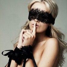 Lechee2017 сексуальное женское белье горячих женщин черный глаз Обложки + 1 пара наручники кружевное Эротическое белье искушение SM Косплей пикан...(China)