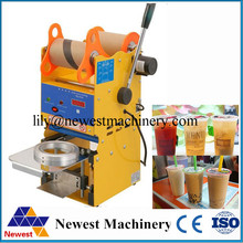 New 220V Manual  Stainless Steel Automatic Plastic Cup Sealer Bubble Tea Cup Sealing Machine