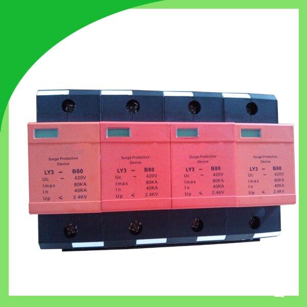 Ly3-B80 420V 80ka 4pole Surge Absorber Transient Voltage Surge Suppressor<br>