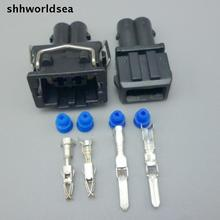 shhworldsea 5/30/100sets 3.5mm male and female 2pin kit wire harness auto connector 357 972 762 357 972 752(China)