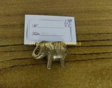1000pcs/lot Free shipping Lucky Golden Elephant Place Card Holders Wedding Decoration Favors Name Card Holder(China)